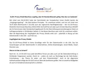 Datenschutz ohne EU-US Pivacy Shield